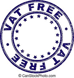 Scratched Textured VAT FREE Round Stamp Seal