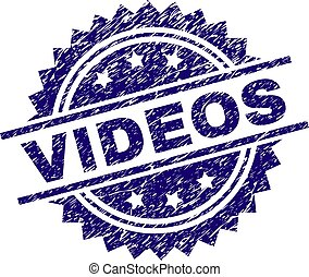 Scratched Textured VIDEOS Stamp Seal