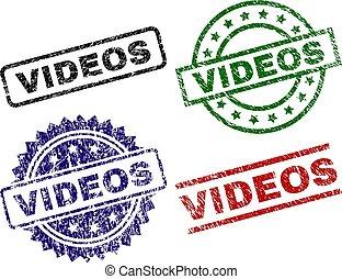 Scratched Textured VIDEOS Stamp Seals