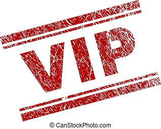 Scratched Textured VIP Stamp Seal - VIP seal print with...