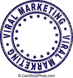 Scratched Textured VIRAL MARKETING Round Stamp Seal