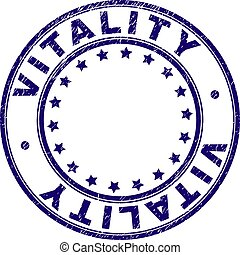 Scratched Textured VITALITY Round Stamp Seal