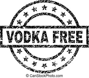 Scratched Textured VODKA FREE Stamp Seal