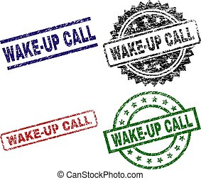 Scratched Textured WAKE-UP CALL Seal Stamps