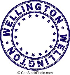 Scratched Textured WELLINGTON Round Stamp Seal