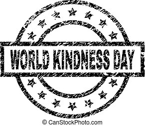 Scratched Textured WORLD KINDNESS DAY Stamp Seal