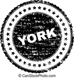 Scratched Textured YORK Stamp Seal