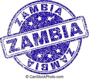 Scratched Textured ZAMBIA Stamp Seal - ZAMBIA stamp seal...