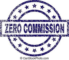 Scratched Textured ZERO COMMISSION Stamp Seal - ZERO...