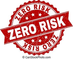 Scratched Textured ZERO RISK Stamp Seal