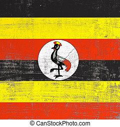 Scratched Uganda flag