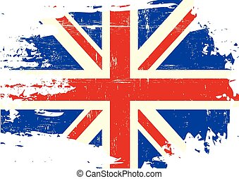 Scratched UK Flag - An english flag with a grunge texture