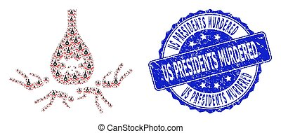 Scratched Us Presidents Murdered Round Seal Stamp and ...