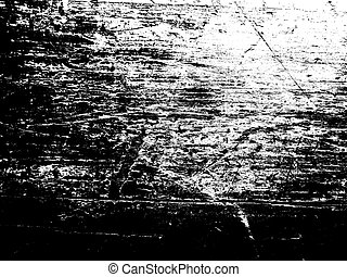 Scratched Wood Texture - A black and white scratched grunge...