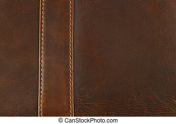 scratched worn leather texture with seam