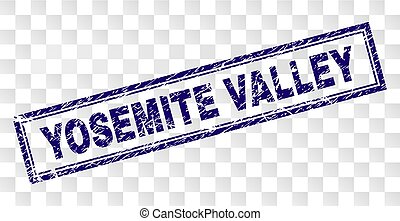 Scratched YOSEMITE VALLEY Rectangle Stamp