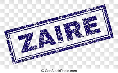 Scratched ZAIRE Rectangle Stamp