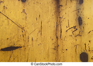 scratches on rusty metal