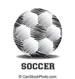 Scratches soccer ball