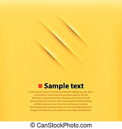 Scratches yellow background. Clean and simple vector...