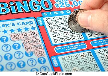 scratching, лотерея, билет, называется, bingo.