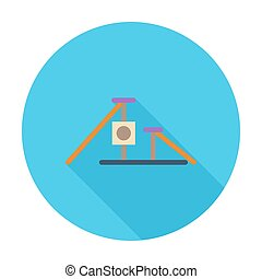 Scratching post flat icon