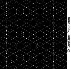Scratchy Hexagon Seamless Pattern. Seamless repeating geometric pattern. Vector illustration.