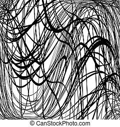 scrawl, hullámos, struktúra