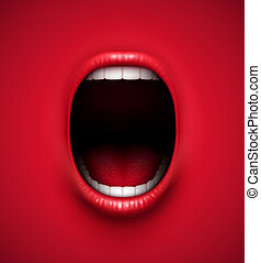 Scream background - Abstract scream background, eps 10