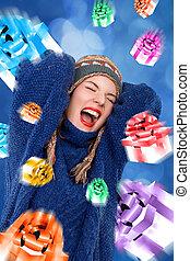 screaming christmas girl
