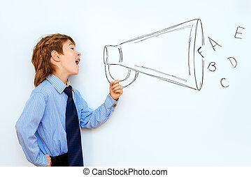 screaming in speaker