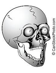 screaming skull - vector