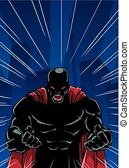 Screaming Superhero Background Silhouette