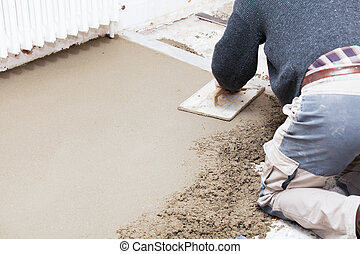 screed, sima, cement, kőműves