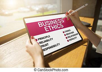 screen., éthique, business, development., concept, appareil