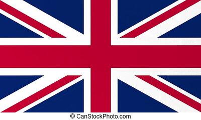 screen., alfa, wielki, bandera, channel., britain, zielona ...