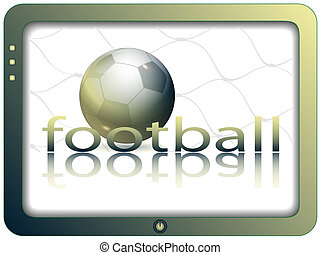 Screen and football