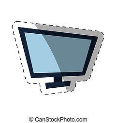 screen computer cut line vector illustration eps 10