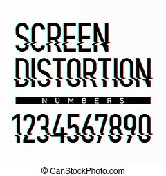 Screen distortion numbers