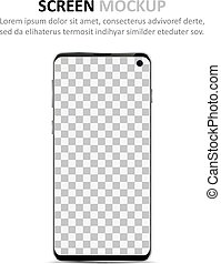 Screen mockup. Smartphone with blank screen for design