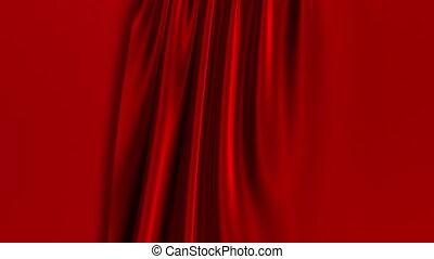 screen., opening., rideaux, rouge vert