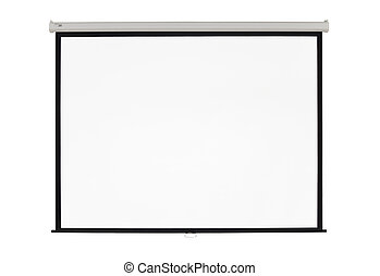 screen projector - white screen projector clean background