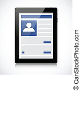 Screen tablet pc with social network page
