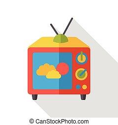 screen tv flat icon
