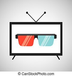 screen tv movie glasses 3d