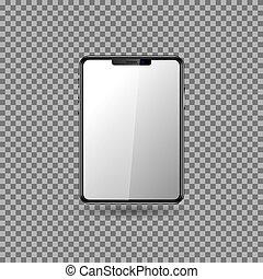 screen., vide, tablette, eps10