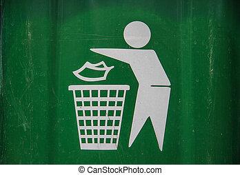 white litter icon