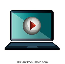 screen with live streaming video icon