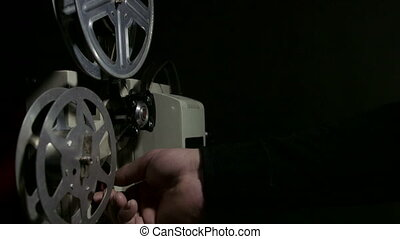 Screening movies on an old film projector