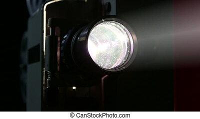Screening movies on vintage film projector